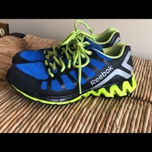 Blue and Black Reebok Zig Tech Running Sneakers